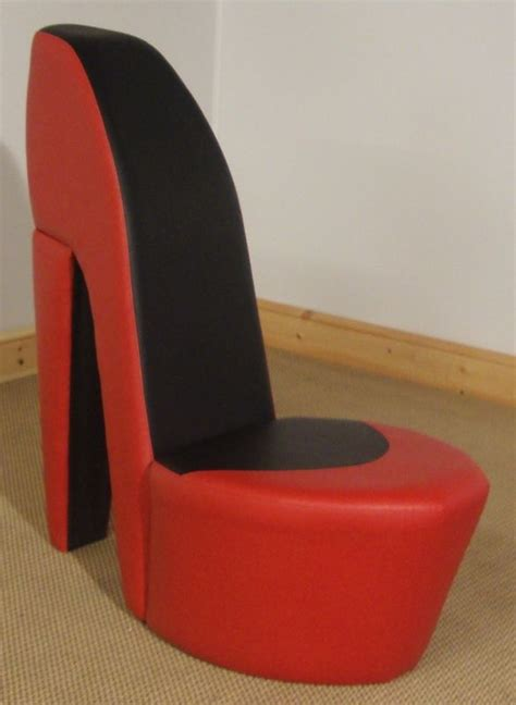 sofa shoes stiletto shoe chair http www ebay co uk itm red black
