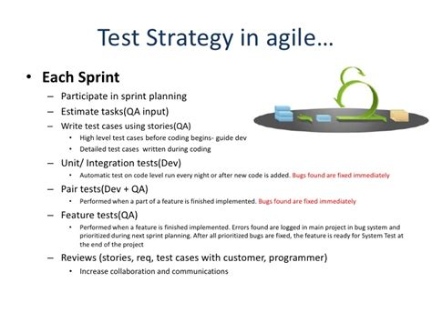 agile test strategy template agile testing strategy