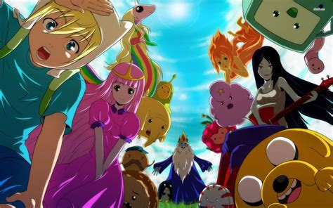 wallpaper anime adventure time adventure time anime wallpaper posters printables