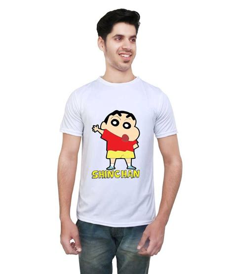 Sinchan T Shirt letsflaunt shinchan white polyester t shirt buy