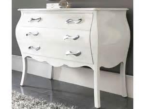 commode design blanc laque 3 tiroirs