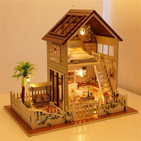 model doll houses new arrival assembling diy miniature model kit wooden doll
