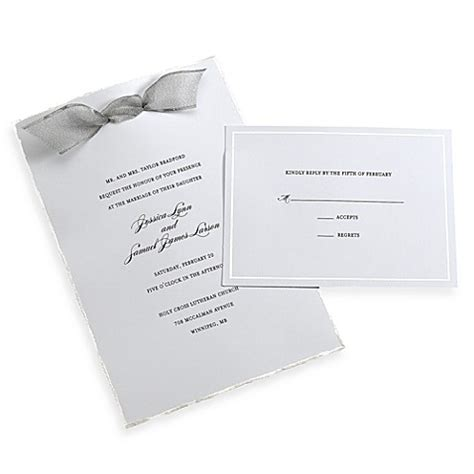 Deckenle Silber by Gartner Studios 50 Count Platinum Deckled Edge Invitation