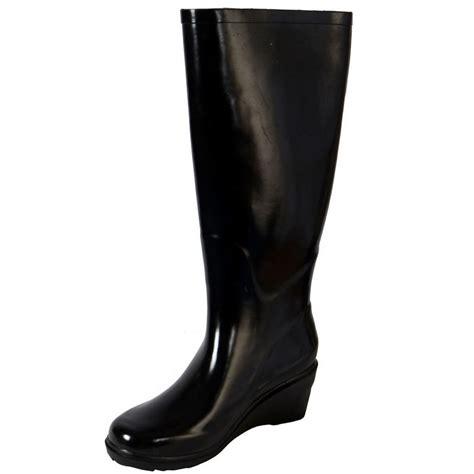 wellington dress boots for gloss black fashion festival wellies