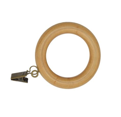 wooden curtain rings with clips urbanest set of 7 wooden curtain rings with clips 1 7 8