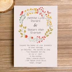 bohemian wedding invitation wording wedding invitations bohemian floral affordable ewi300 as low as 0 94