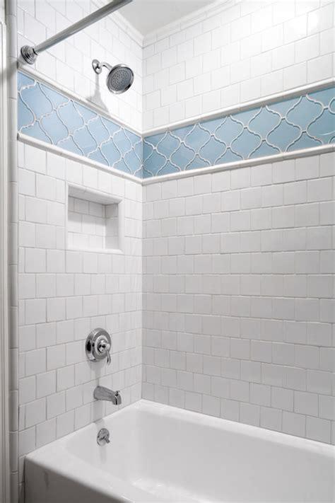 tile bathtub shower combo ann sacks arabesque tiles design ideas