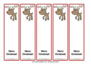 printable bookmarks activity village reindeer printables
