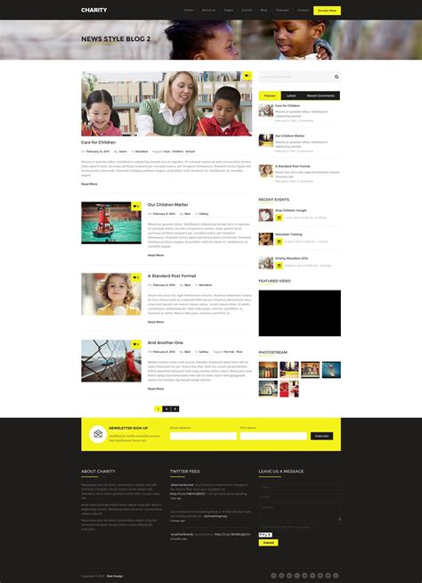 theme wordpress with foundation charity foundation fundraising wordpress theme by