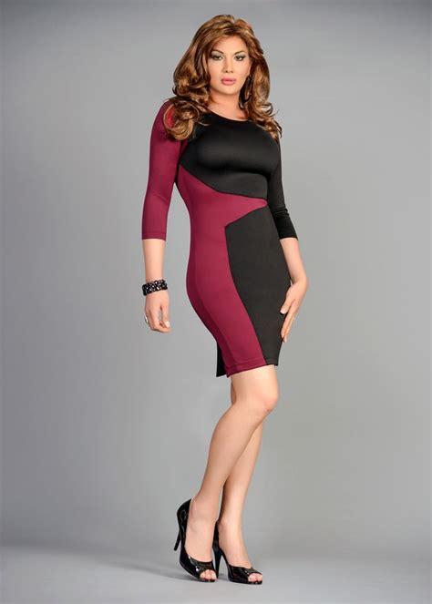 slimming colors slimming color block bodycon dress slimming side panel