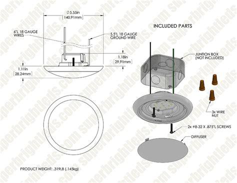 junction box mounted led lights 5 1 2 quot flush mount led ceiling light 60 watt equivalent