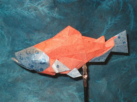 Origami Salmon - help stop genetically modified salmon insteading