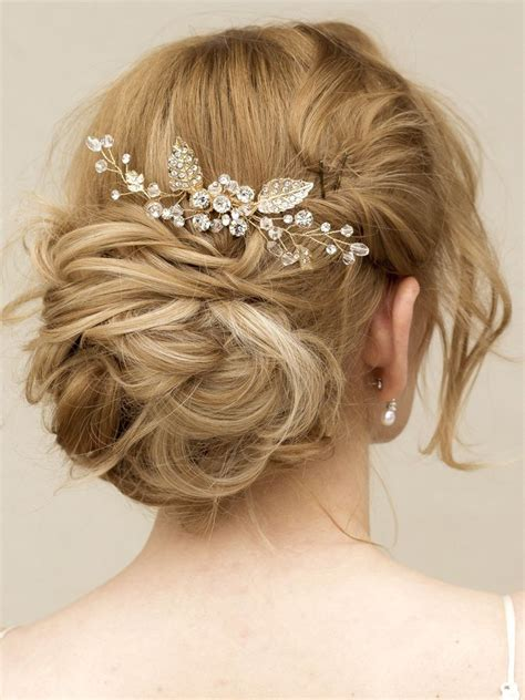 hair accessories for a wedding gold rhinestone crystal hair vine comb quot elke quot in gold