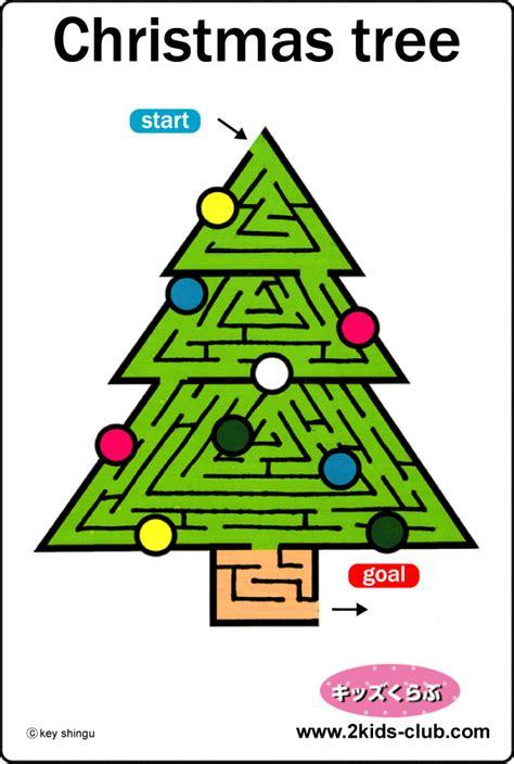 printable christmas tree maze maze christmas tree
