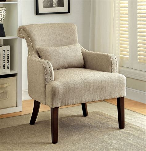 Beige Accent Chair