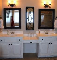 master bathroom with vanity and makeup counter