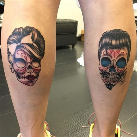 sugar skull couple tattoo 125 best sugar skull designs meaning 2018