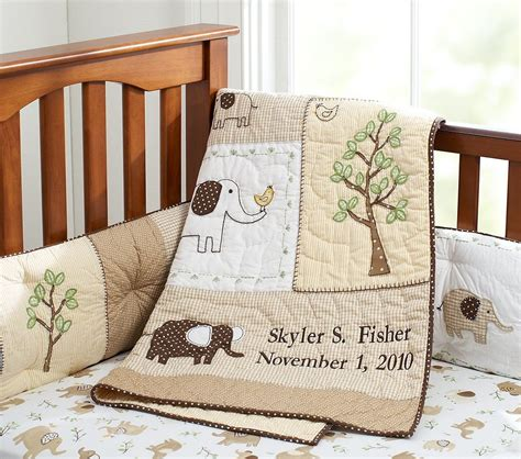 baby elephant crib bedding the red headed baker elephant themed baby shower