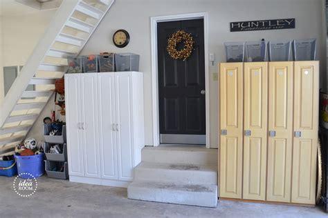 Garage Door Organization Tips Organize Garage Clutter The Idea Room