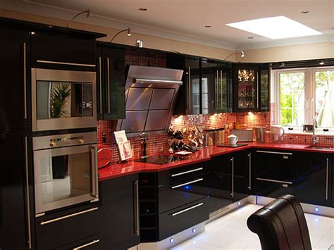 black gloss kitchen ideas cl1 high gloss black bydesign kitchens and bedrooms