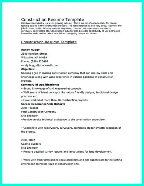 construction resume builder 7 best resume vernon images on construction