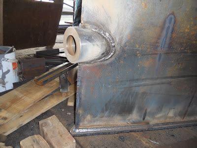 boat stern tube replacement harris watson narrowboat build stern gear installation