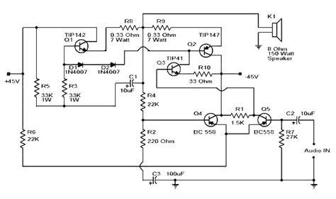 Power Lifier 150 Watt darlington transistor lifier circuit diagram wiring diagram