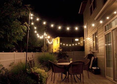 deck lighting ideas string lighting idea for outdoor deck outdoors pinterest