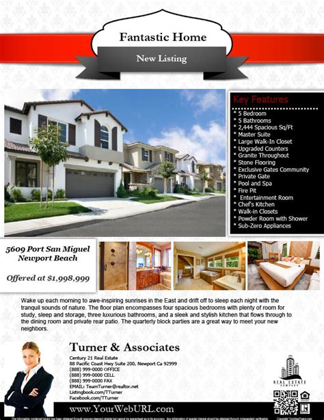 realtor flyer template real estate flyers pdf templates turnkey flyers
