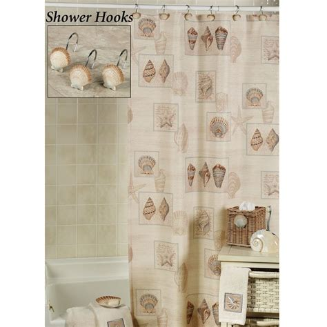 Seashell Shower Curtain Bathroom Set Shower Curtain The Sarasota Seashell Shower Curtain Will Bring The Right Into