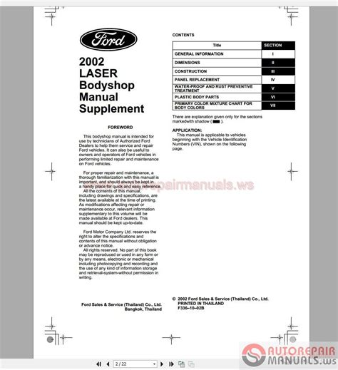 online auto repair manual 1985 ford laser electronic toll collection ford laser 2002 workshop manual auto repair manual forum heavy equipment forums download