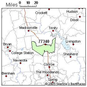 huntsville texas zip code map best place to live in huntsville zip 77340 texas