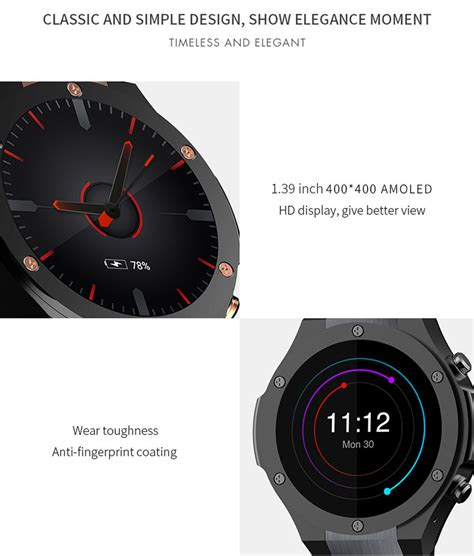 Microwear H2 3g Smartwatch Smart Android 1gb 16gb Zeblaze Lemfo microwear h2 3g smartwatch phone 1 39 inch android 5 0