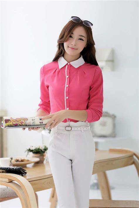 Kemeja Cewek Katun Bordir Import 20 toko kemeja cewek korea pink