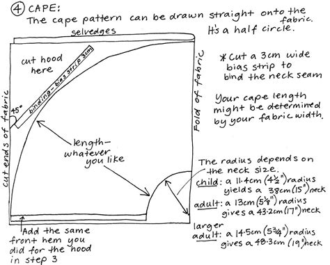 cape pattern free pattern dress ups cape the craft of clothes