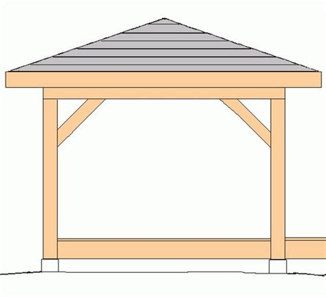 Hip Roof Gazebo Roof Plan Hip Roof And Gazebo On