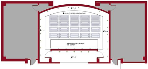 lecture hall floor plan ollswang lecture hall lighting and acoustics ashley