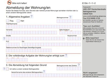 gez abmeldung der wohnung gez abmelden keinen rundfunkbeitrag zahlen ab 2013
