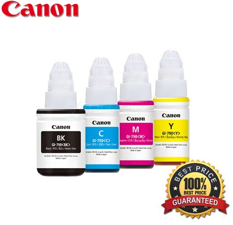 Tinta Canon G1000 Jual Tinta Canon Ink Bottle Gi 790 Cyan Magenta Yellow