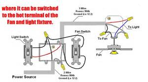 how to wire ceiling fan with light switch outdoor