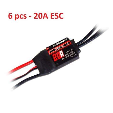 Esc Hobbywing Skywalker 20a Rc Brushless Speed Controller Pesawat hobbywing skywalker 20a esc