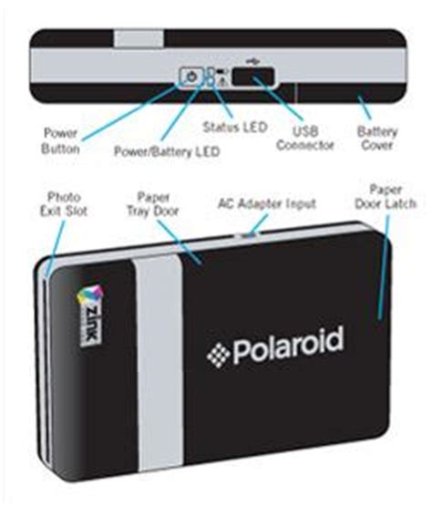 polaroid pogo portable bluetooth mini photo printer