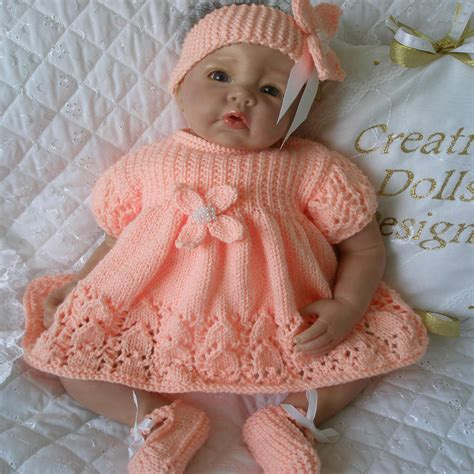 free baby dolls clothes knitting patterns creative dolls designs knitting pattern dress set for 17