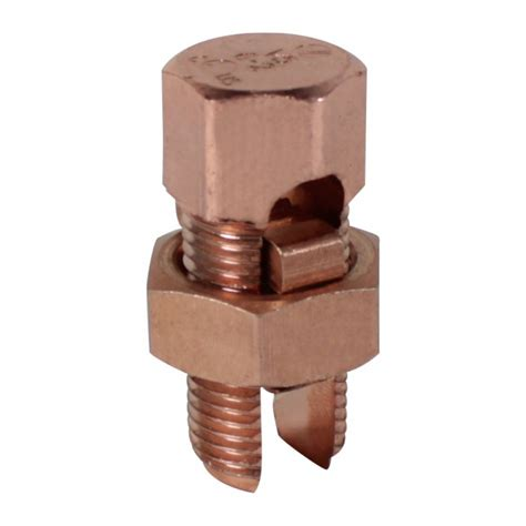 electrical copper connectors split bolt copper to copper connector groundings