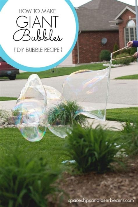 giant bubbles diy bubbles recipe