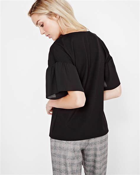Bell Sleeve T Shirt bell sleeve t shirt rw co