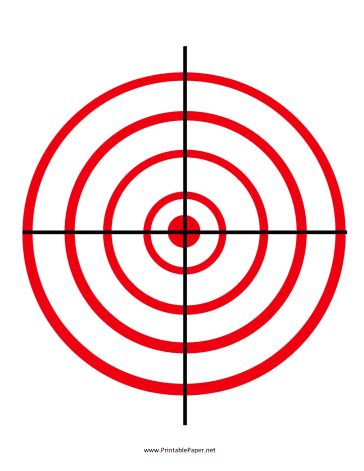 printable gun target games classic concentric red circles on this target give