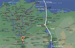 Suez Canal In World Map by Suez Canal Map Bing Images