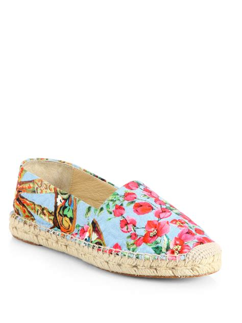 Strawberry Print Canvas Flats At Asos by Dolce Gabbana Floralprint Canvas Espadrille Flats In