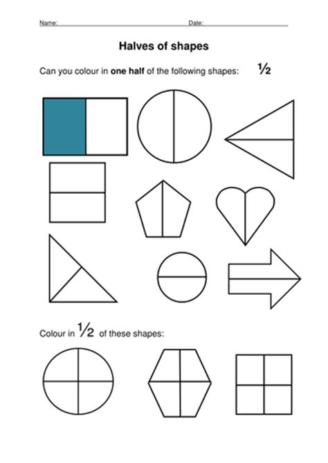 shapes worksheets yr 1 halving shapes by stevm117 teaching resources tes